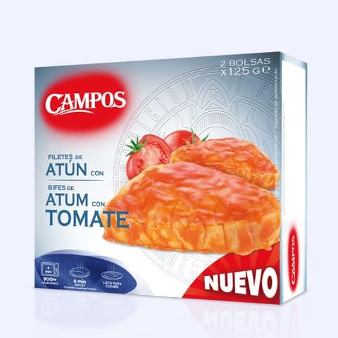 Solomillos congelados Atún Campos con tomate