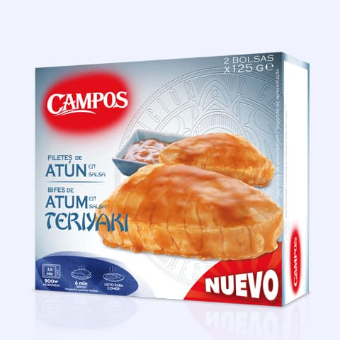 Solomillos congelados Atún Campos con salsa teriyaki