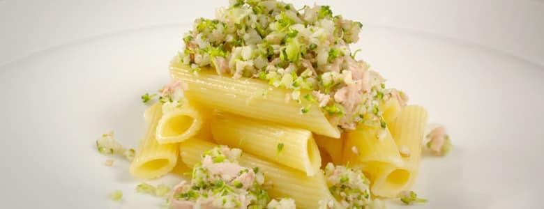 BCC Videoreceta Cous cous de brocoli y coliflor salteado con pasta y Atún Claro Campos